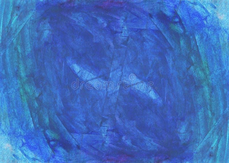 Abstrakcjonistyczna ręka malujący akwareli tło Dekoracyjna chaotyczna kolorowa tekstura dla projekta Ręka rysujący obrazek na pap ilustracji