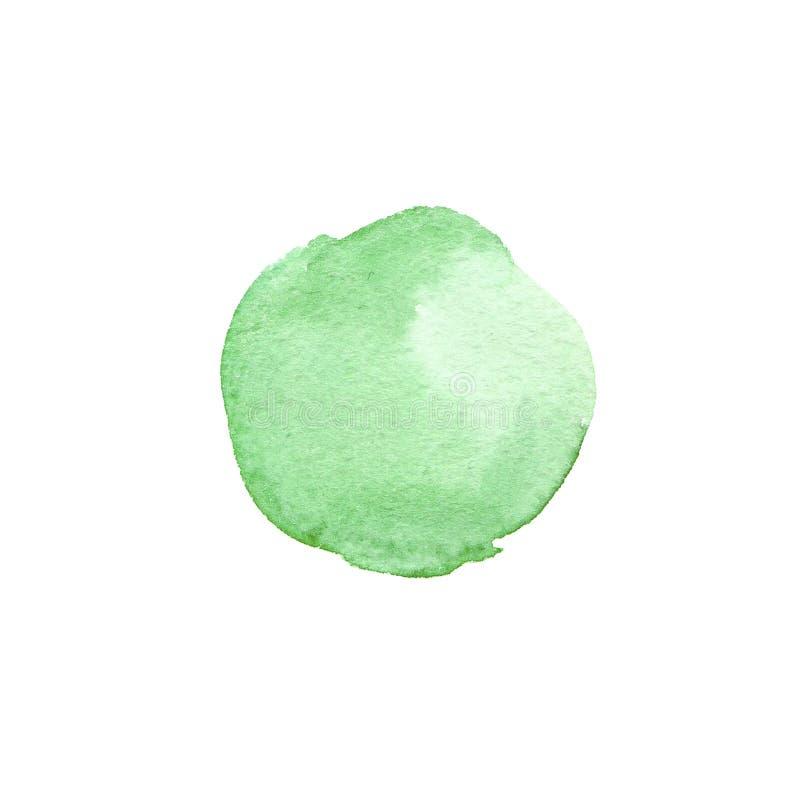 Abstrakcjonistyczna ręka malujący akwareli zieleni okrąg Piękny element dla projekta tła koloru mężczyzna muzyki wektor ilustracja wektor
