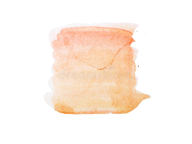 Abstrakcjonistyczna ręka rysująca akwareli aquarelle kształtów sztuki farby splatter kolorowa plama na białym tle fotografia royalty free