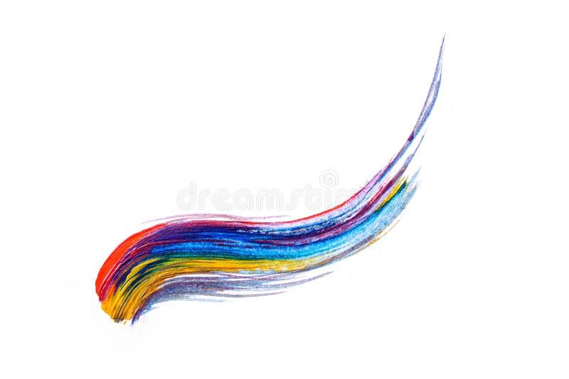Abstrakcjonistyczna ręka rysujący akrylowego obrazu sztuki kreatywnie tło clo royalty ilustracja