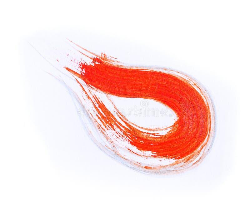 Abstrakcjonistyczna ręka rysujący akrylowego obrazu sztuki kreatywnie tło clo ilustracji