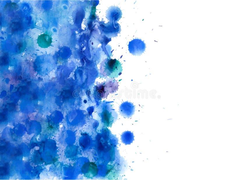 Abstrakcjonistyczna ręka rysujący akwareli tło, wektorowa ilustracja ilustracji