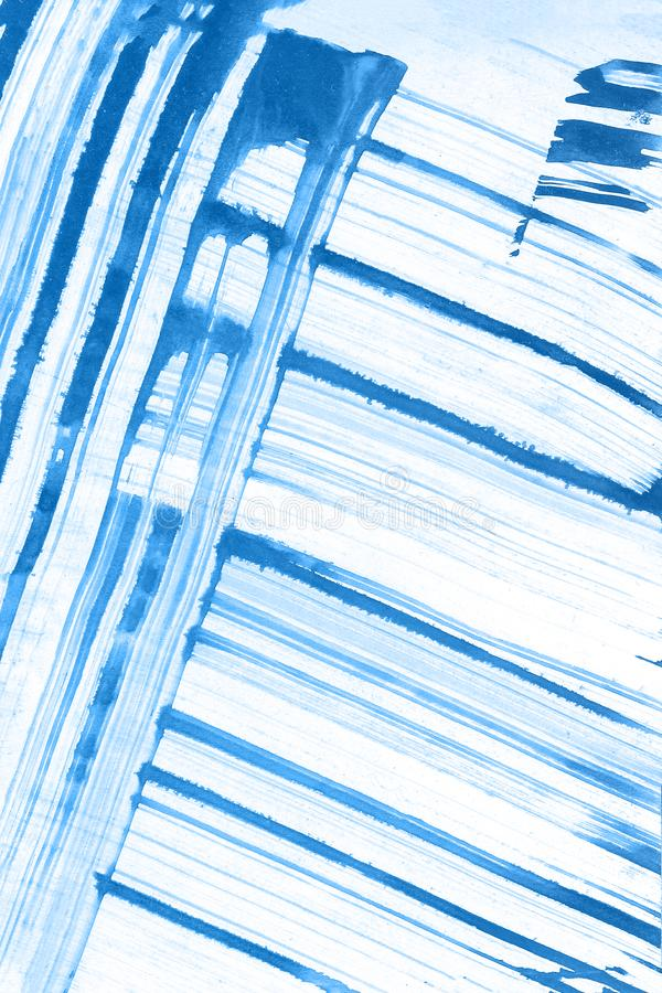 Abstrakcjonistyczna ręka rysujący błękitny akwareli tło, raster ilustracja obrazy royalty free