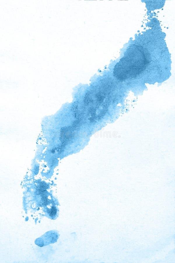 Abstrakcjonistyczna ręka rysujący błękitny akwareli tło, raster ilustracja obrazy stock