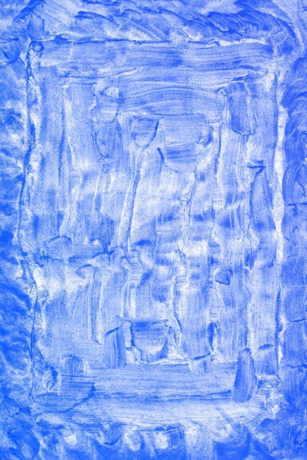 Abstrakcjonistyczna ręka rysujący błękitny akwareli tło, raster ilustracja fotografia stock