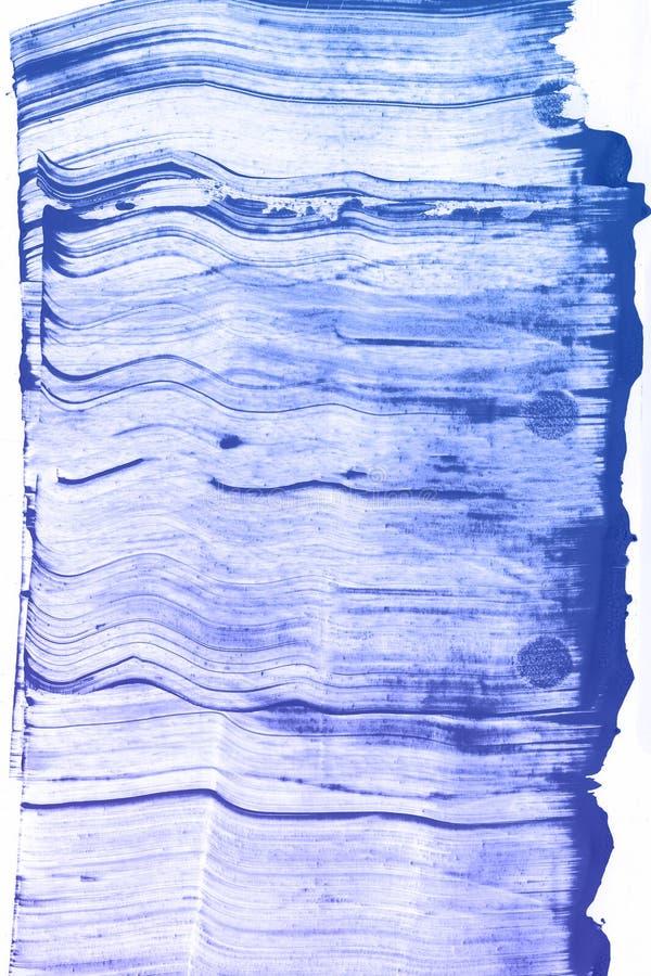 Abstrakcjonistyczna ręka rysujący błękitny akwareli tło, raster ilustracja zdjęcia stock