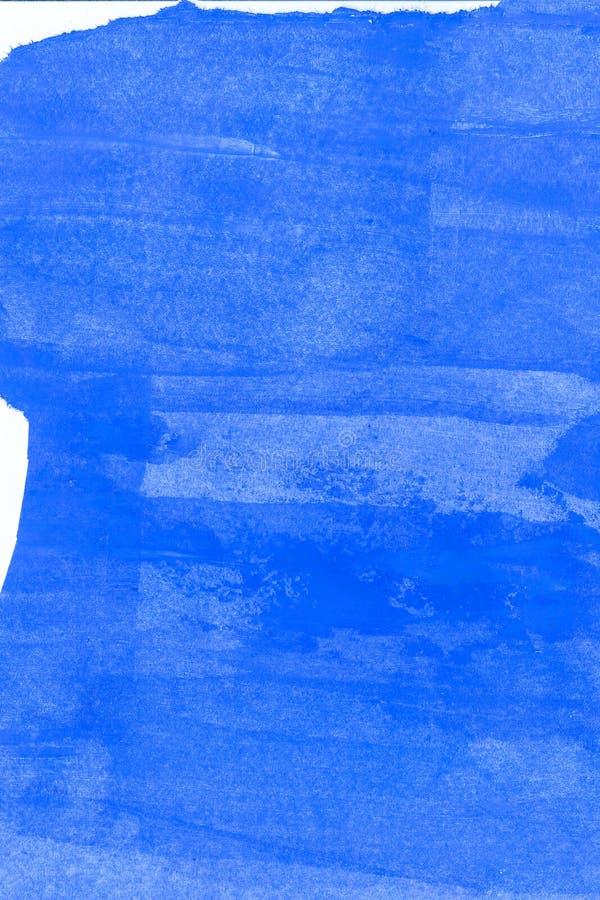 Abstrakcjonistyczna ręka rysujący błękitny akwareli tło, raster ilustracja zdjęcie stock