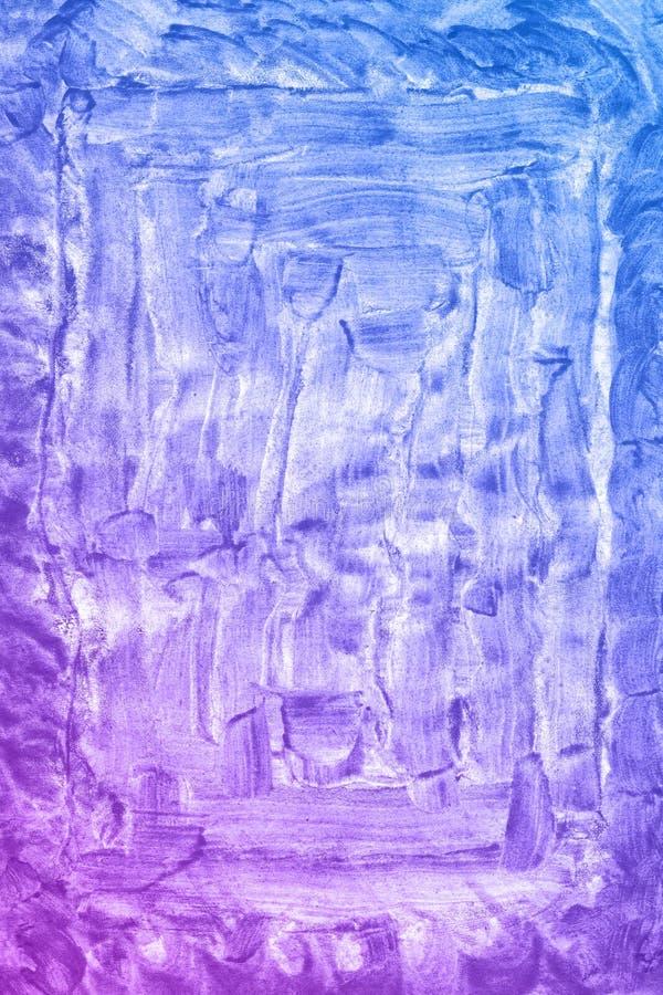 Abstrakcjonistyczna ręka rysujący błękitny i fiołkowy akwareli tło, raster ilustracja zdjęcia royalty free