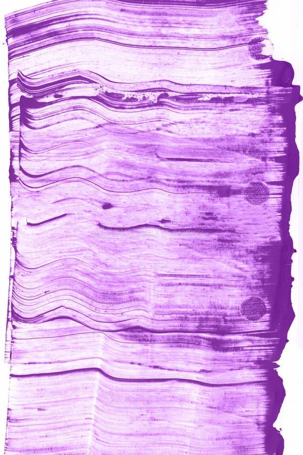 Abstrakcjonistyczna ręka rysujący błękitny i fiołkowy akwareli tło, raster ilustracja obrazy royalty free