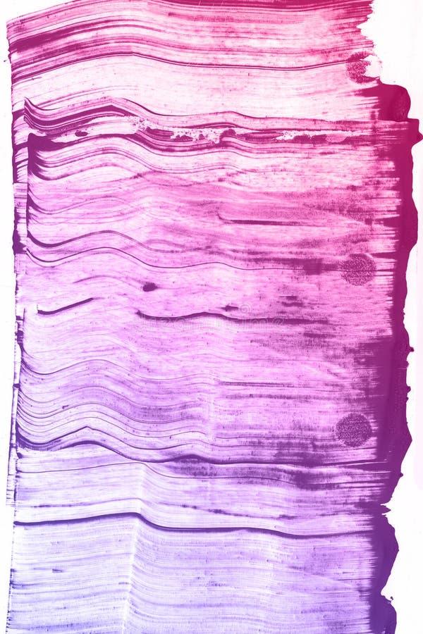 Abstrakcjonistyczna ręka rysujący błękitny i różowy akwareli tło, raster ilustracja fotografia stock
