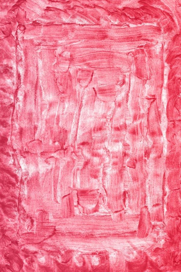 Abstrakcjonistyczna ręka rysujący czerwony akwareli tło, raster ilustracja obraz royalty free