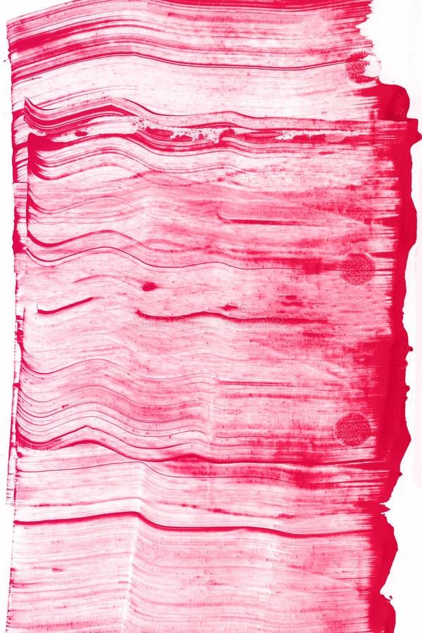 Abstrakcjonistyczna ręka rysujący czerwony akwareli tło, raster ilustracja zdjęcie stock
