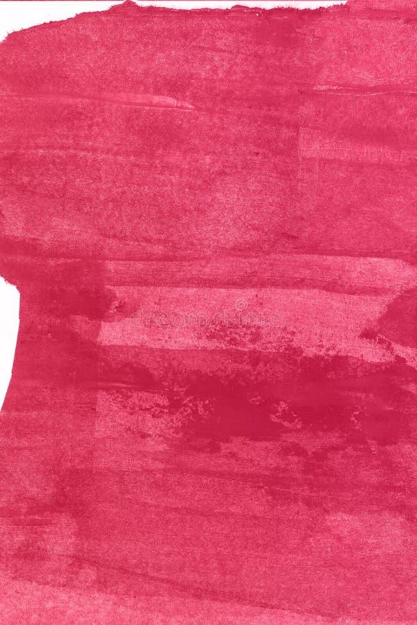 Abstrakcjonistyczna ręka rysujący czerwony akwareli tło, raster ilustracja fotografia royalty free