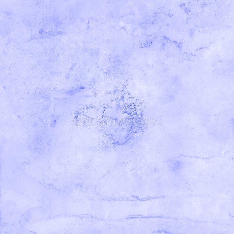 Abstrakcjonistyczna ręka rysujący farby akwareli błękitny tło, raster illust fotografia royalty free