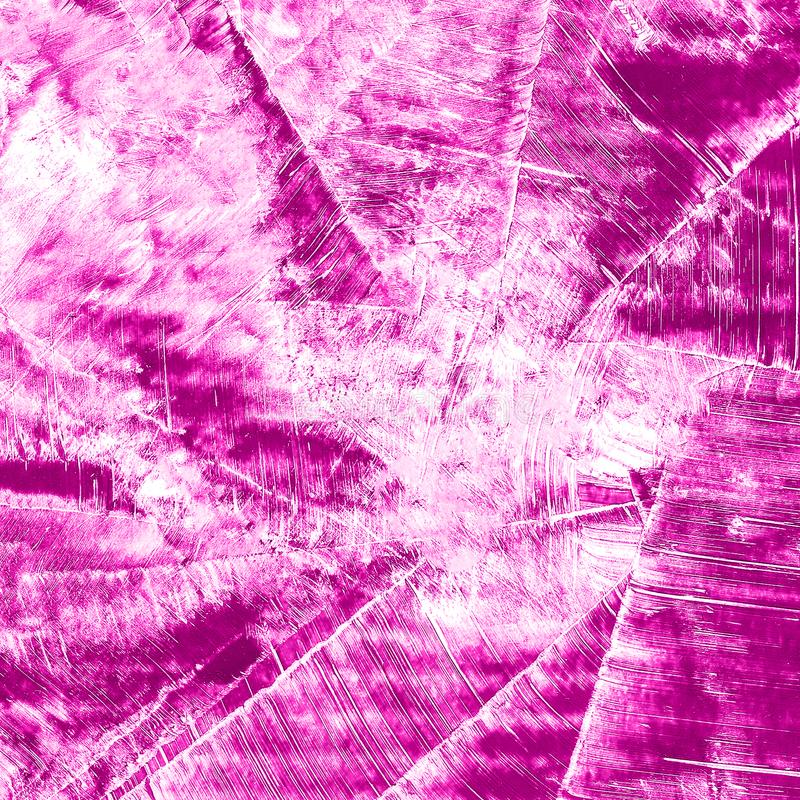 Abstrakcjonistyczna ręka rysujący farby akwareli purpurowy tło, raster illust fotografia stock