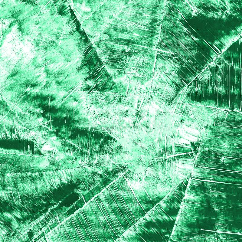 Abstrakcjonistyczna ręka rysujący farby akwareli zielony tło, raster illust obraz royalty free