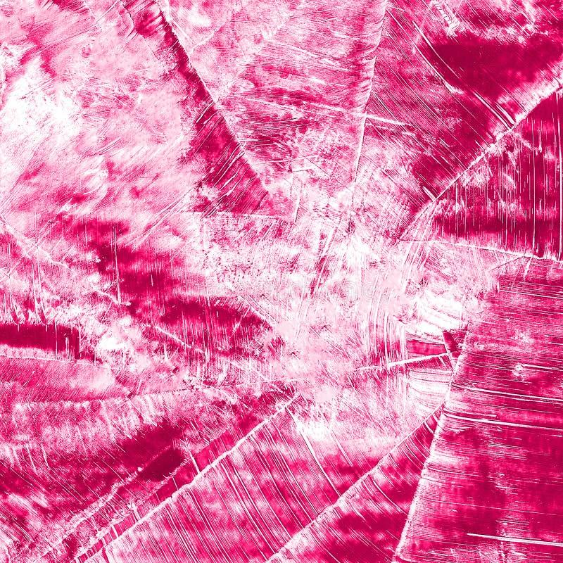Abstrakcjonistyczna ręka rysujący farby czerwony i purpurowy akwareli tło, raster illust zdjęcie stock