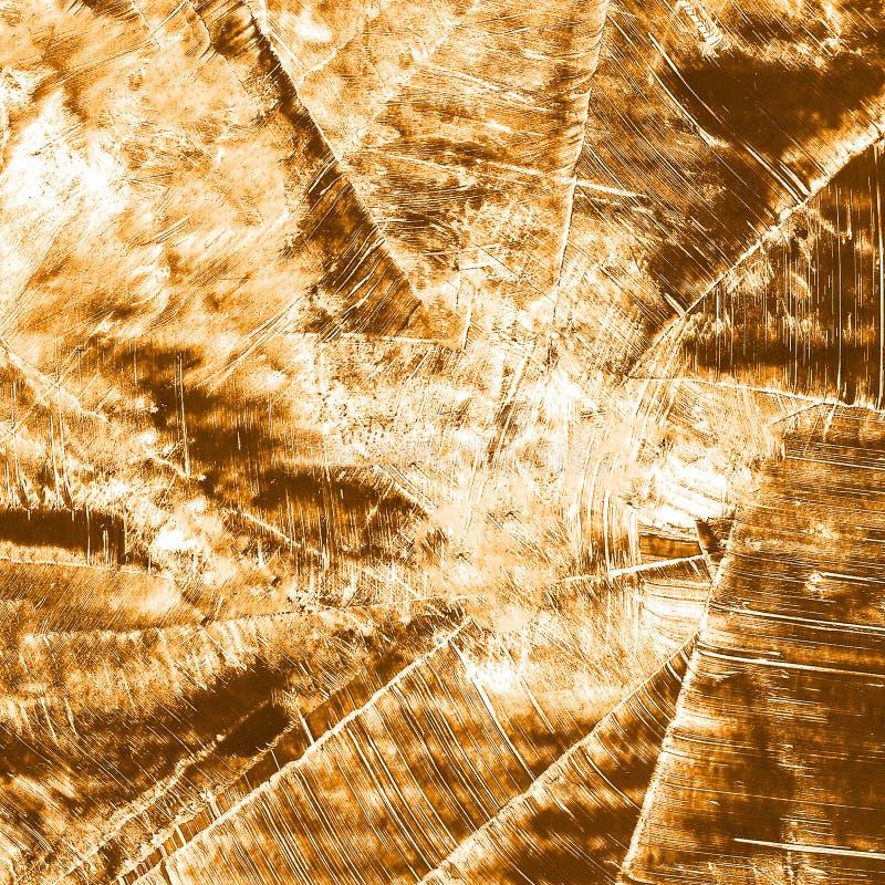 Abstrakcjonistyczna ręka rysujący farby pomarańczowy i brown akwareli tło, raster illust zdjęcie stock
