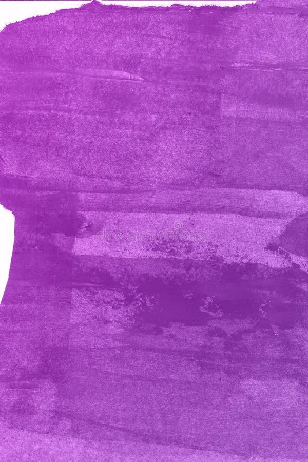 Abstrakcjonistyczna ręka rysujący fiołkowy akwareli tło, raster ilustracja obraz stock