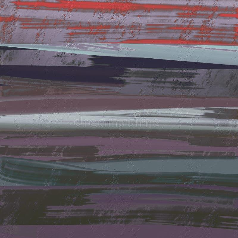 Abstrakcjonistyczna ręka rysujący malujący atramentu muśnięcie muska grafikę Suchy atrament spattered na grungy powierzchni Bardz ilustracja wektor