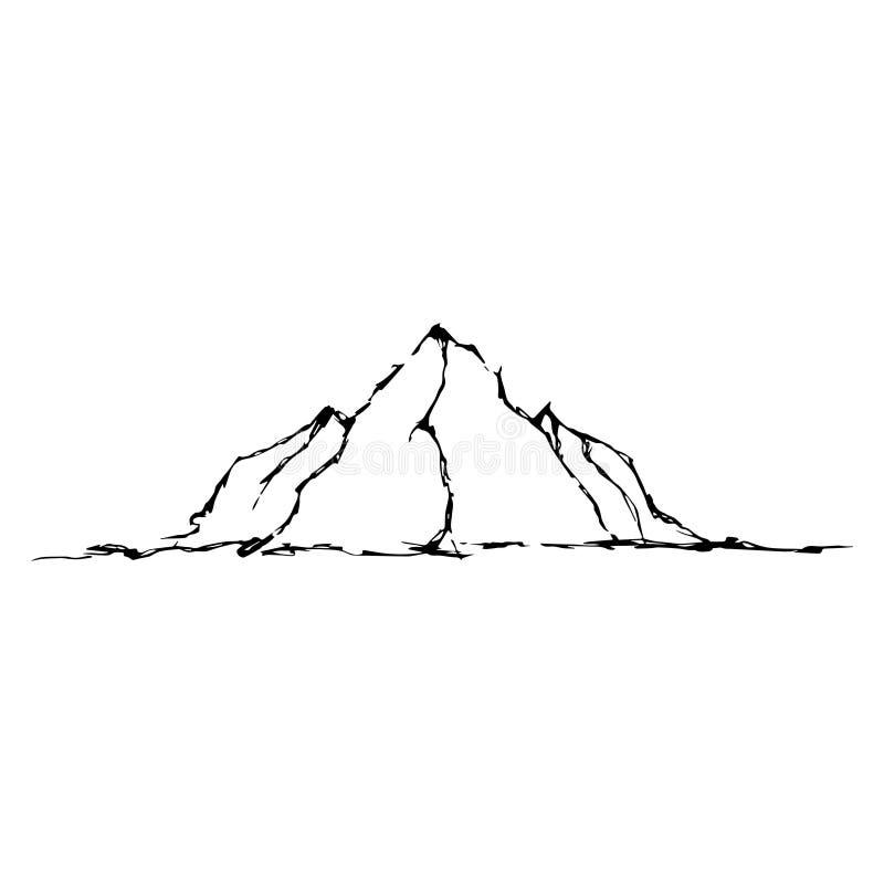 Abstrakcjonistyczna ręka rysujący wizerunek góry ilustracja wektor
