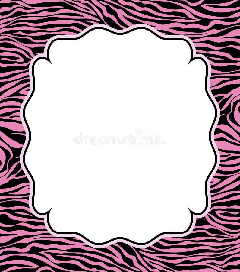 abstrakcjonistyczna ramowa skóry tekstury wektoru zebra royalty ilustracja