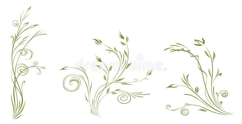 abstrakcjonistyczna roślina royalty ilustracja