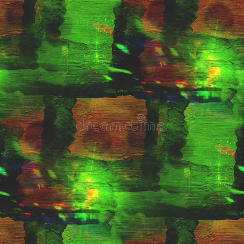 Abstrakcjonistyczna rocznik zieleń, brown awangarda ilustracji