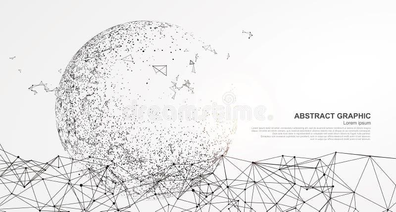 Abstrakcjonistyczna sfera, połączenie z internetem ilustracji