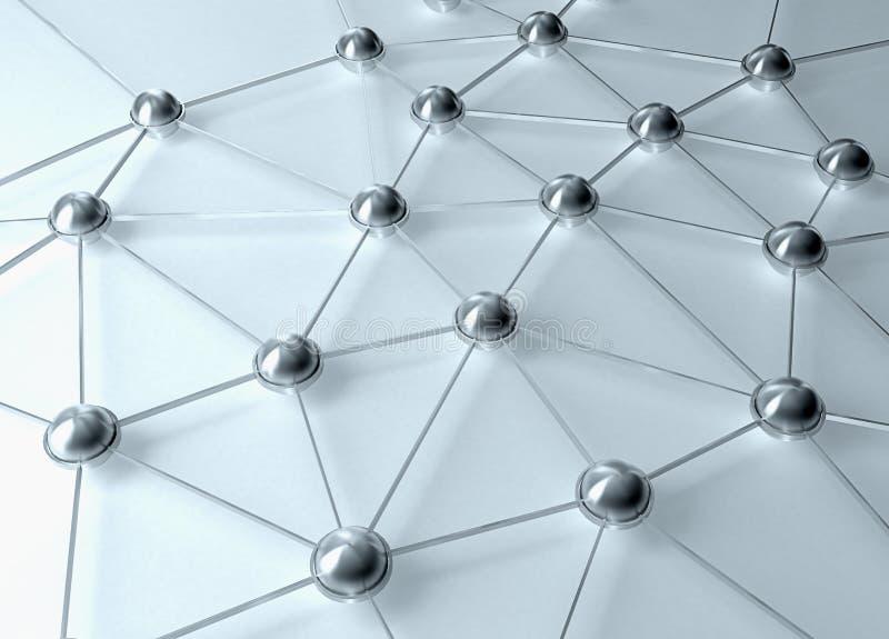 abstrakcjonistyczna sieć royalty ilustracja