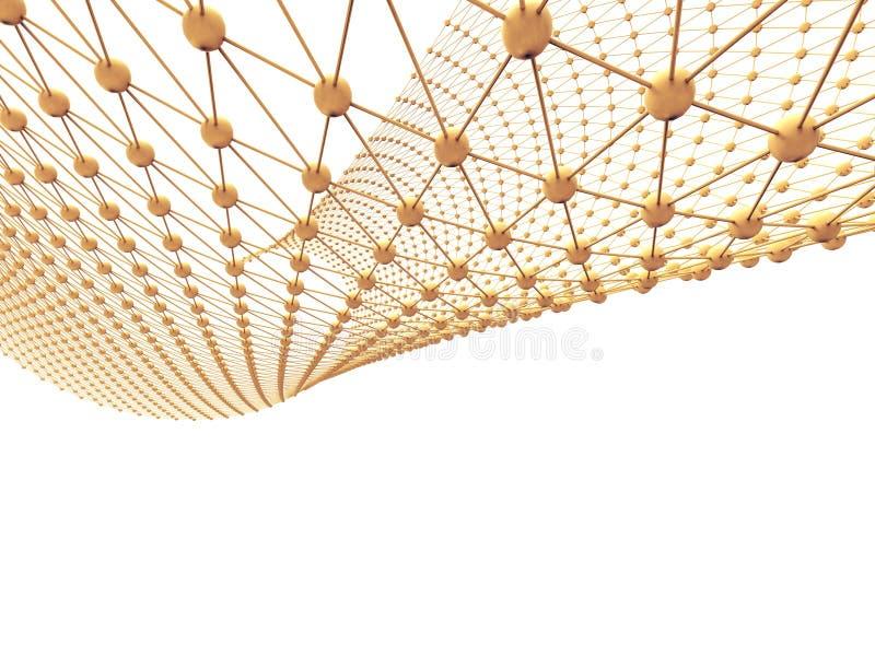 Abstrakcjonistyczna sieci technologii Cząsteczkowa struktura i związek ilustracji