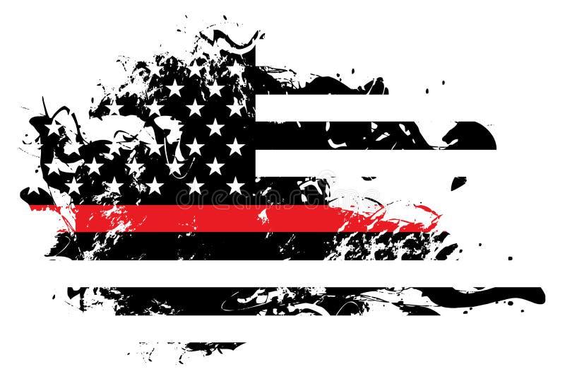 Abstrakcjonistyczna strażaka poparcia flaga ilustracja royalty ilustracja