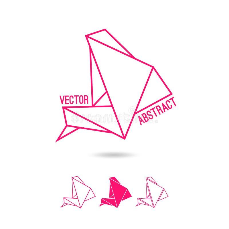 Abstrakcjonistyczna struktura trójboki ilustracja wektor