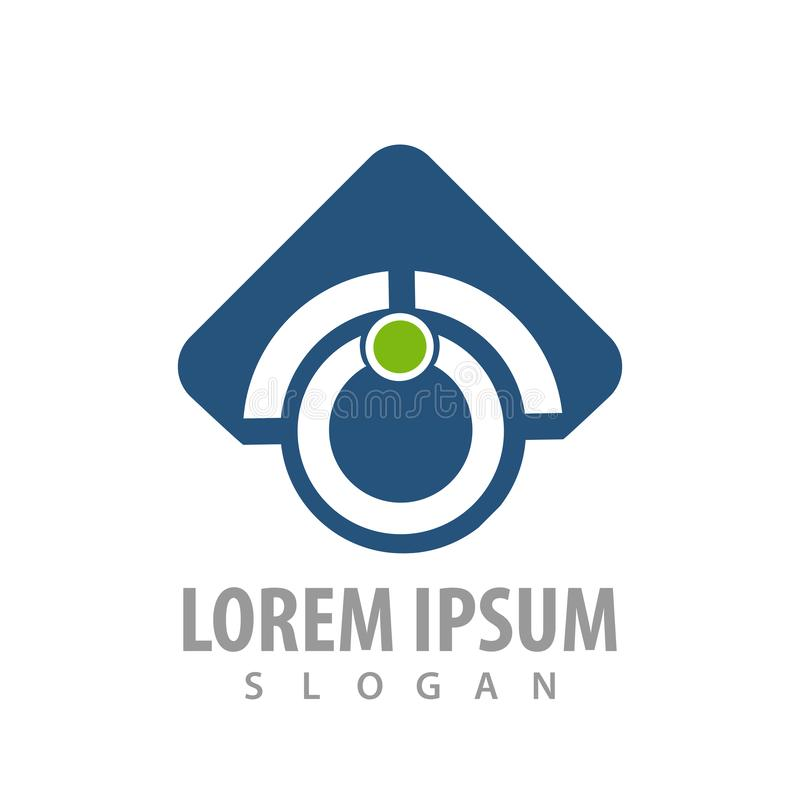 abstrakcjonistyczna strzała w górę okrąg technologii logo pojęcia błękitnego projekta Symbolu szablonu elementu graficzny wektor ilustracji