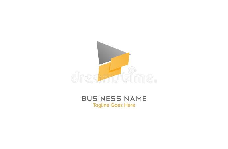Abstrakcjonistyczna strzała, biznesowy loga szablon czysty i fachowy odczucie ilustracja wektor
