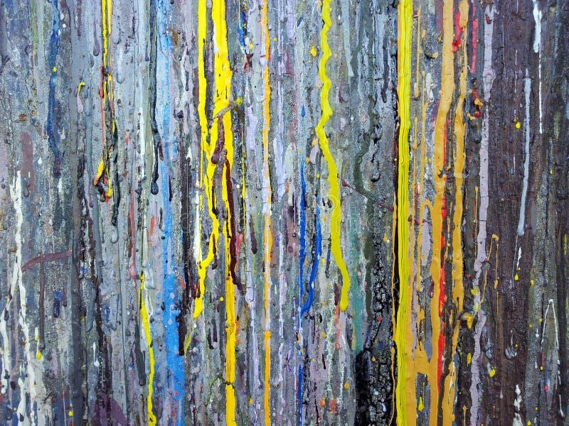 Abstrakcjonistyczna stubarwna farby tekstura zdjęcia royalty free