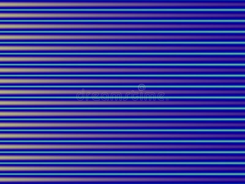 Abstrakcjonistyczna stubarwna ilustracja Kolor żółty i błękitni horyzontalni lampasy architektury sztuki tła szczegółu mozaiki te ilustracja wektor