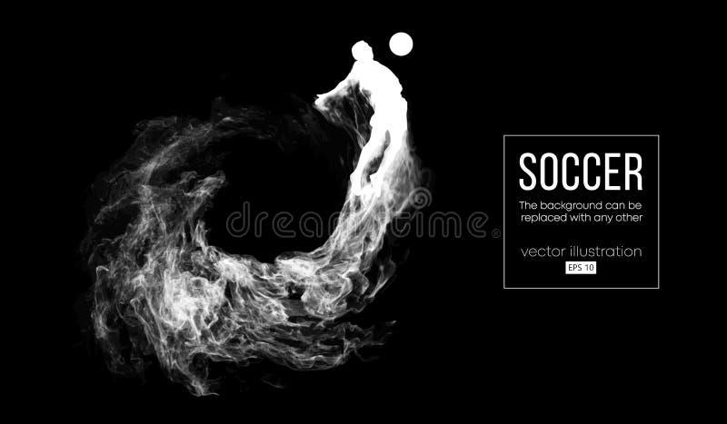 Abstrakcjonistyczna sylwetka gracz futbolu na czerni ilustracja wektor