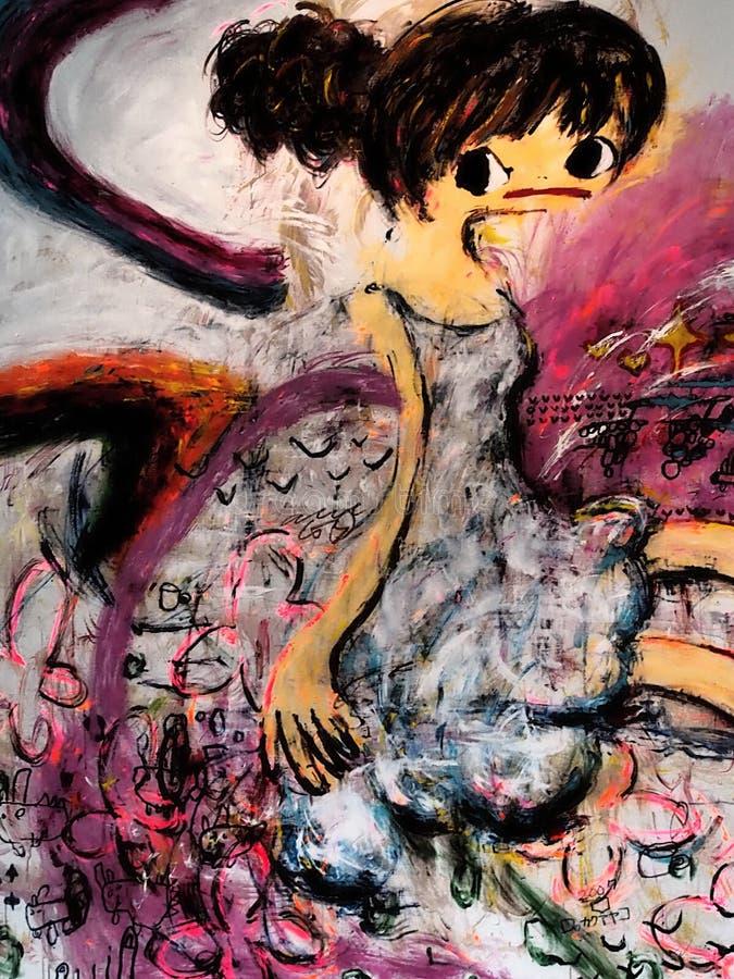 Abstrakcjonistyczna sztuka wsp??czesna w Bratislava 2016 Mistrz, zasadzony zdjęcie royalty free