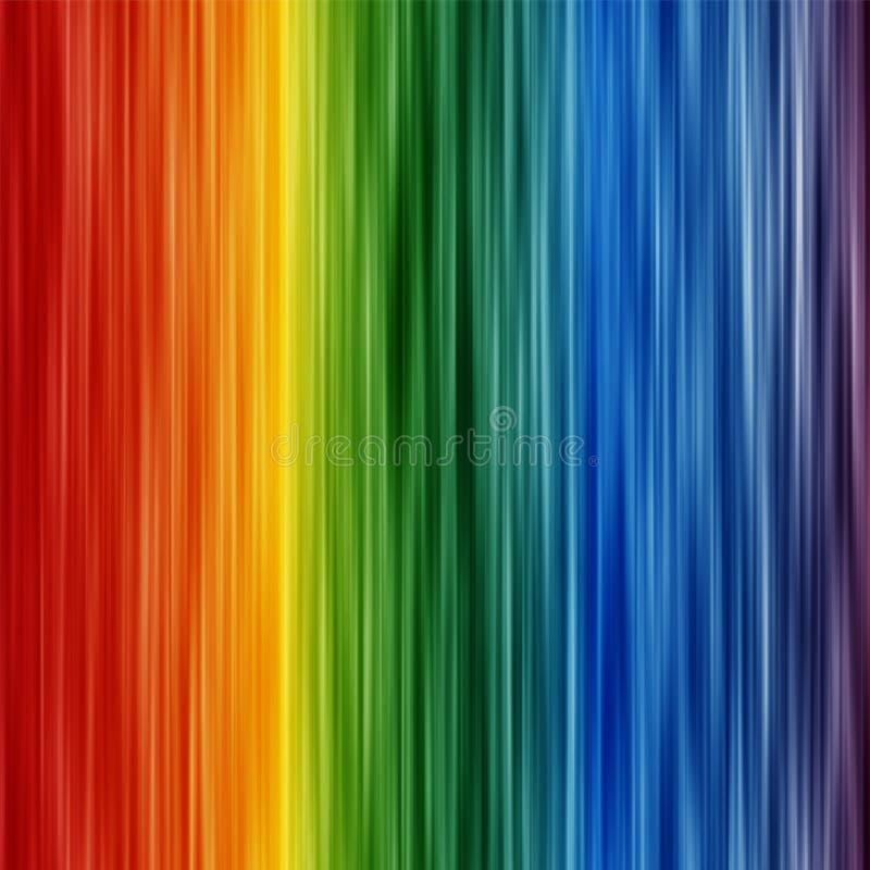 Abstrakcjonistyczna tęcza barwi tło z zamazanymi liniami royalty ilustracja