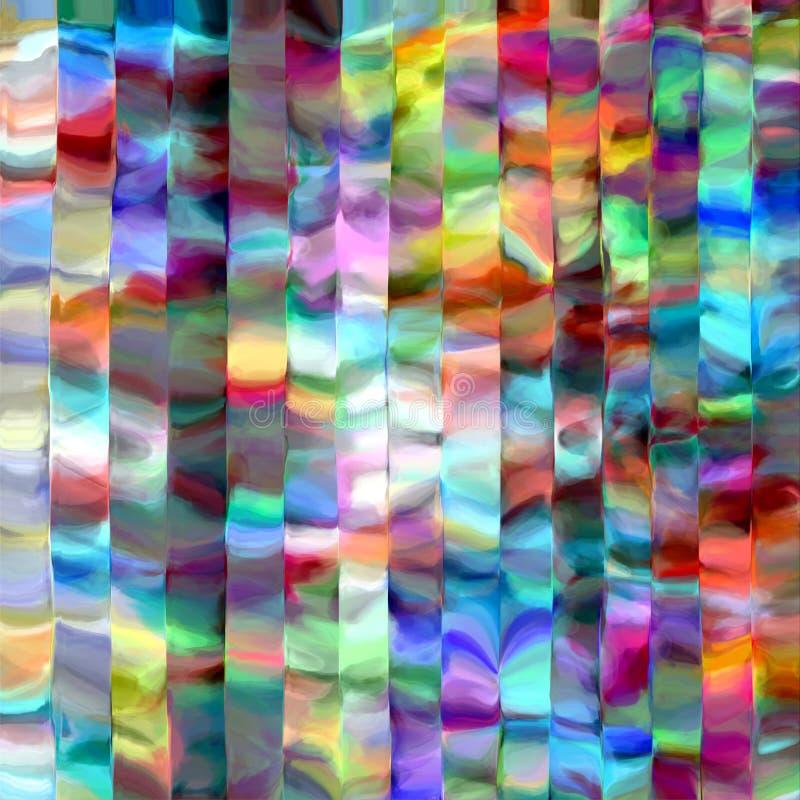 Abstrakcjonistyczna tęcza zamazywać linie barwią pluśnięcie farby sztuki tło royalty ilustracja