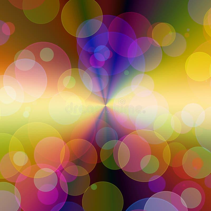 abstrakcjonistyczna tła światła magia royalty ilustracja