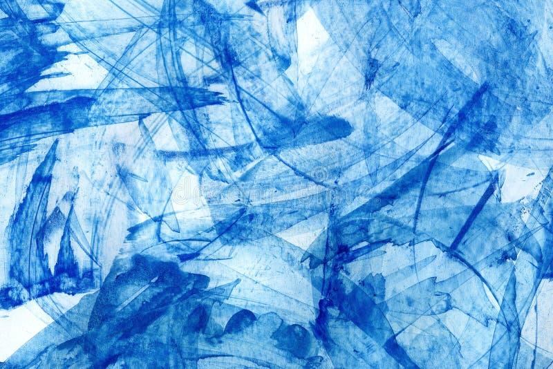 abstrakcjonistyczna tła błękita akwarela ilustracja wektor