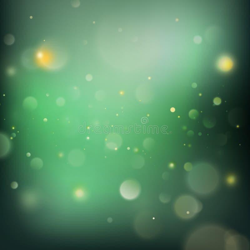 abstrakcjonistyczna tła bokeh zieleń EPS 10 wektor ilustracji