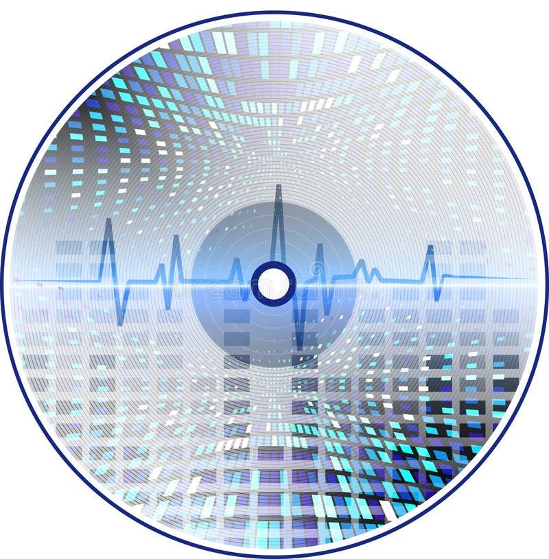 abstrakcjonistyczna tła cd muzyka royalty ilustracja