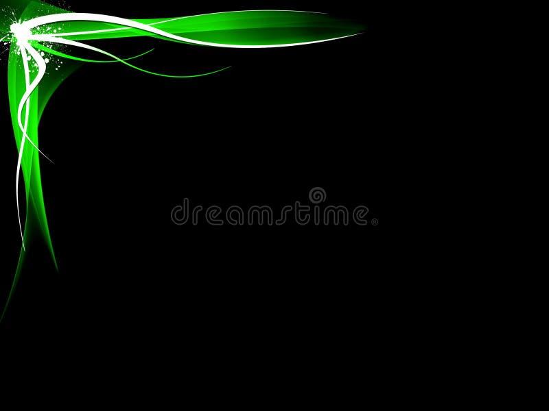 abstrakcjonistyczna tła czerń zieleń ilustracji