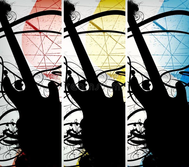 abstrakcjonistyczna tła grunge muzyka ilustracja wektor