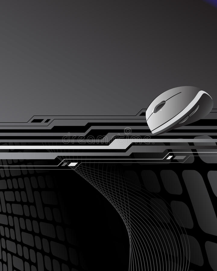 abstrakcjonistyczna tła komputeru mysz ilustracja wektor