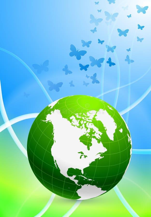 abstrakcjonistyczna tła kuli ziemskiej zieleń royalty ilustracja