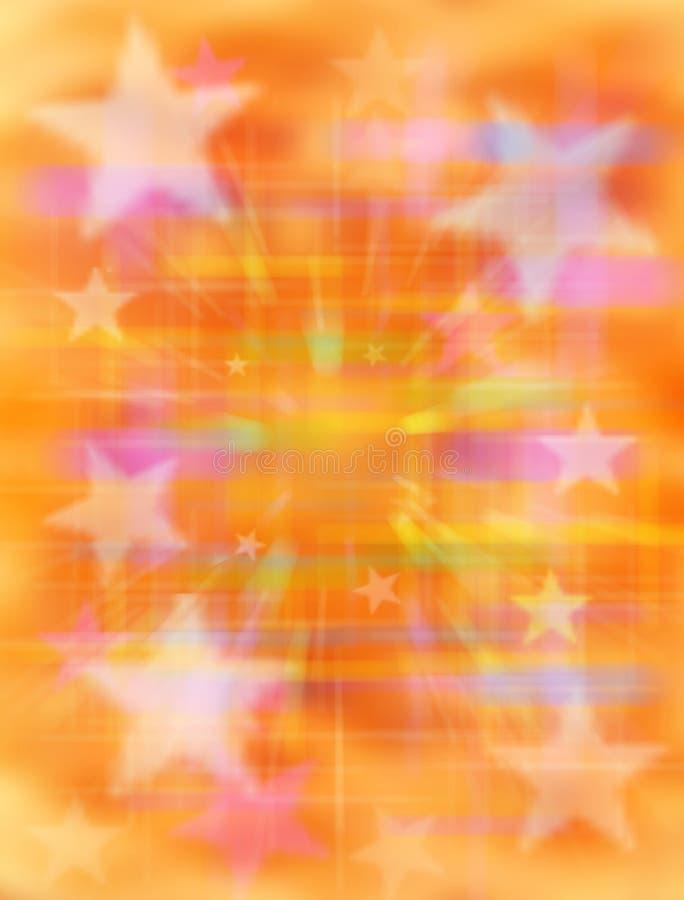 abstrakcjonistyczna tła pomarańcze gwiazda zdjęcie royalty free